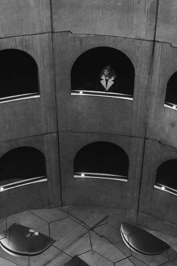 Built Structure Architecture Window Mirror Blackandwhite Hauteurs Fromthehigh High Angle View Motif  Pattern
