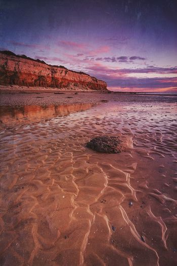 Ripplicious Scenics Beach Beach Sunset Hunstanton Tranquility Landscape Seaside Sea And Sky Travel Destinations EyeEm Masterclass By The Sea Norfolk Uk The Secret Spaces Landscape_Collection Cliff Cloudporn Dusk Colours Clouds And Sky Sunset_collection Britain Outdoors Sand Patterns Ripples Beauty In Nature The Great Outdoors - 2017 EyeEm Awards