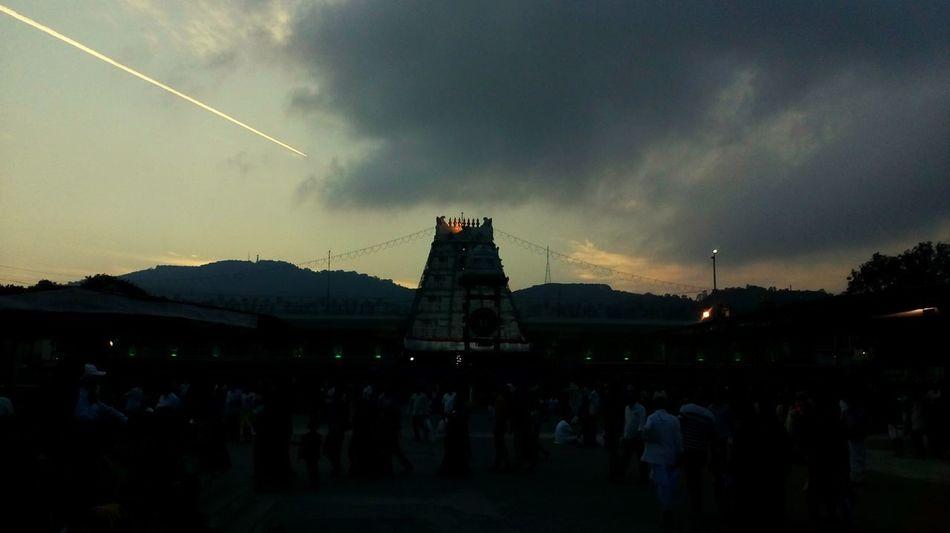 Tirupati Balaji Govinda Sky Architecture Built Structure Cloud - Sky Outdoors Night People Nature