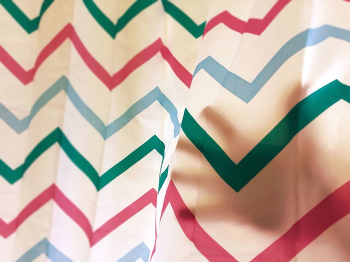 Full frame shot of multi colored pattern on wall