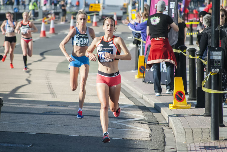 Great South Run 2018 Athlete Runners Running Fitness Race Southsea Portsmouth Hampshire  England Female Runner Females Women City Full Length