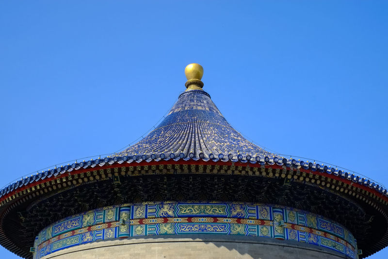 Architectural Feature Architecture Beijing Blue Built Structure Chilling Chinese Culture Chinese Traditional Style Clear Sky Culture Day Design Dome High Section Low Angle View No People Ornate Outdoors Sky Tourism Travel Destinations BEIJING北京CHINA中国BEAUTY