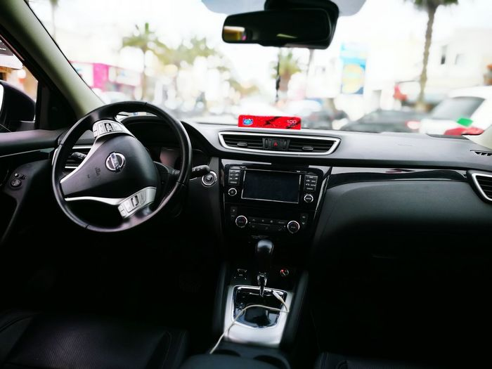HuaweiP9Photography HuaweiP9 Vehicle Interior Car Transportation Mode Of Transport Tunisie Sousse Car Interior Nissan Qashqai