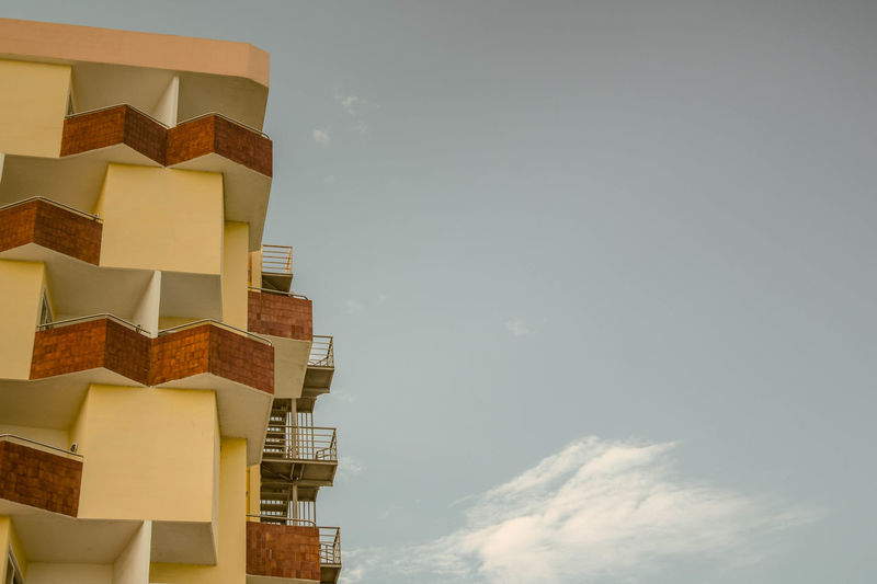 Angles Architecture Balconies Building Exterior Built Structure City Cloud - Sky Day Holiday Hotel Low Angle View Nature No People Outdoors Sky Space For Copy The Graphic City
