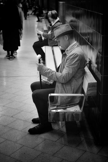 Man with the power Real People Streetphotography Public Transportation Blackandwhite Nikon D3400 Streetphoto_bw Stockholm Street Life