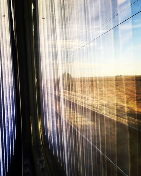 Traveling Home For The Holidays Window Curtain Drapes  See Through No People Outside Journey Sky