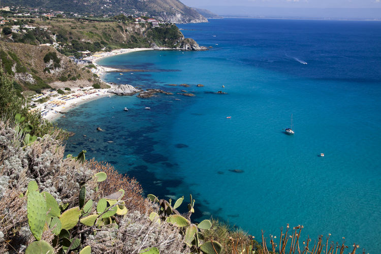 Sea south Italy Mediterranean Sea Panorama Beach Beauty In Nature Blue Cliff Day High Angle View Horizon Over Water Idyllic It Costs Nature Outdoors Rock - Object Scenics Sea Sky Souht Italy Tranquil Scene Tranquility Transparent Sea Water White Beach