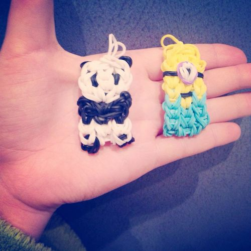 Cute Taking Photos Photooftheday Photo Of The Day Rainbow Loom Minon Panda Langeweile