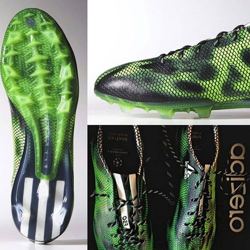 Loving my son's new soccer boots...! 👏⚽ 😍💚 I want some heeled ankle boots in green snakeskin now...!!! 😊👢💚👌 Adizerof50 Uefachampionsleague Snakeskin Soccer greenwithenvy shoewhore shoeporn