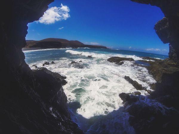 Fuerteventura Cave Gopro Hero3 SPAIN