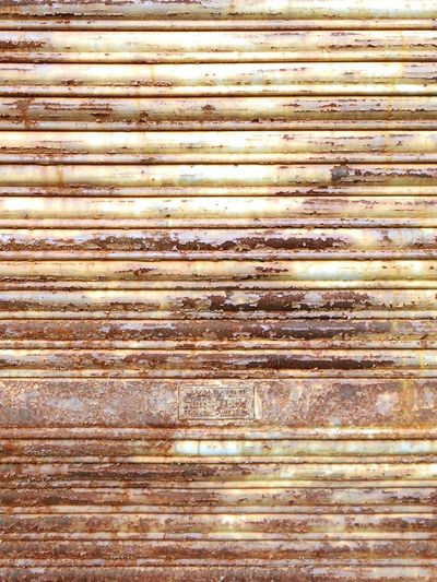 Metal Shutter Textures And Surfaces Background ArchiTexture Rusty Grungy Textures Yellow And Brown Horizontal Lines Scratched Weathered Shutter