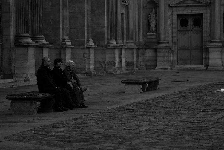 Paris Architecture Adult People Elderly Staring Black & White BW_photography Bw