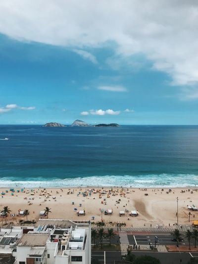 Morning at Ipanema beach EyeEmNewHere Rio De Janeiro Sunny Summer Ocean Blue Brazil Ipanema EyeEm Selects Sea Water Sky Beach Cloud - Sky Land Tranquil Scene Outdoors Beauty In Nature First Eyeem Photo
