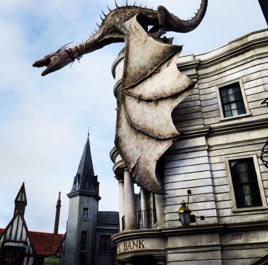 Gringottsbank Gringotts Dragon Harry Potter ⚡ Diagon Alley Universal Studios Orlando Gringotts