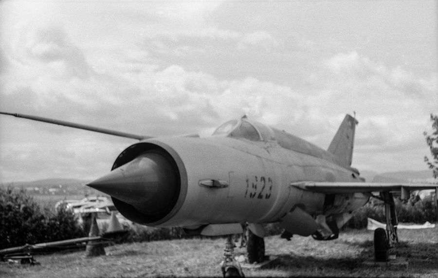 MiG 21 Slovakia Soviet Union Aircraft Airplane Black And White Blackandwhite Fighter Plane Film Photography Jet Fighter Medium Format Military Airplane