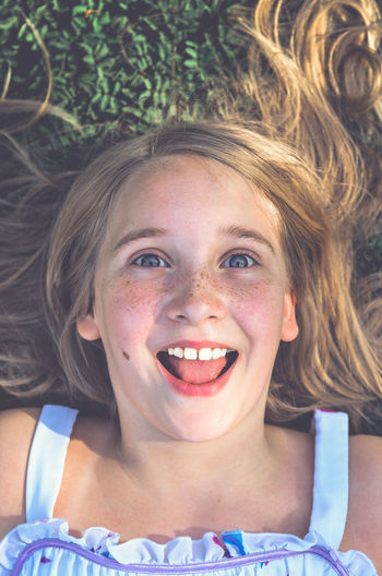 Blond Hair Cheerful Childhood Close-up Day Front View Girls Happiness Headshot Looking At Camera One Person Outdoors People Portrait Real People Smiling