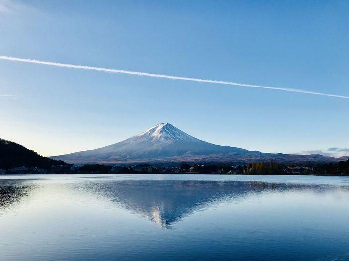 富士山河口湖 河口湖 富士山