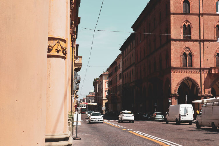 Bologna has been so wonderful EyeEm Selects City Car Sky Architecture Building Exterior Vehicle Road Marking City Street Asphalt Crosswalk Dividing Line Moving Parking Road Signal Empty Road Bicycle Lane Land Vehicle