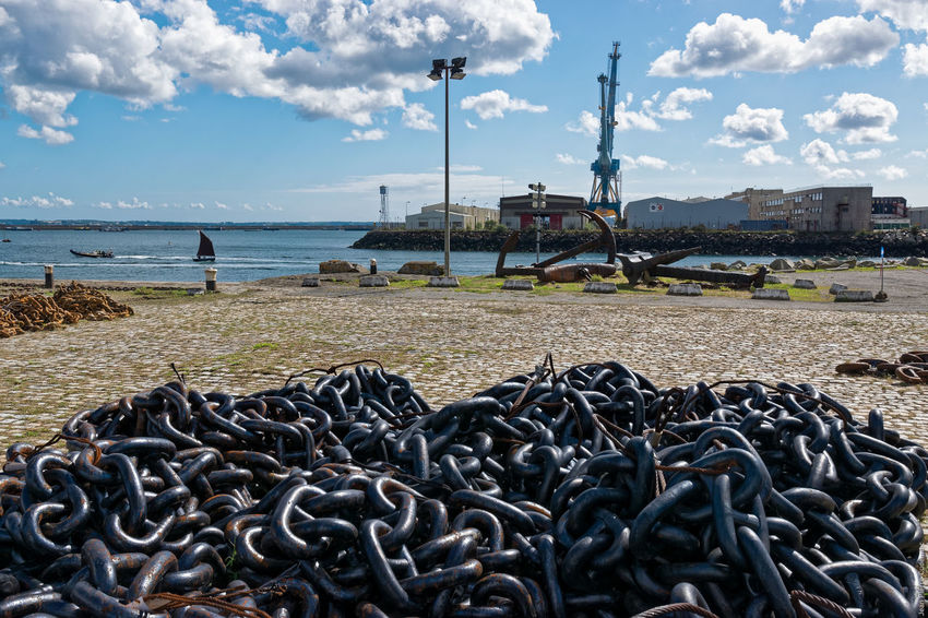 Parc à chaînes Abundance Brest 2016 Brest2016 Chain Chains Day Fêtes Maritimes Harbour Harbour View No People Outdoors