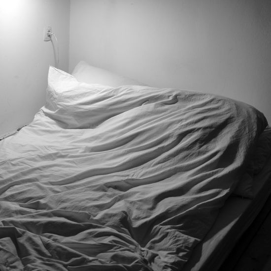 Scenic view of bed at home