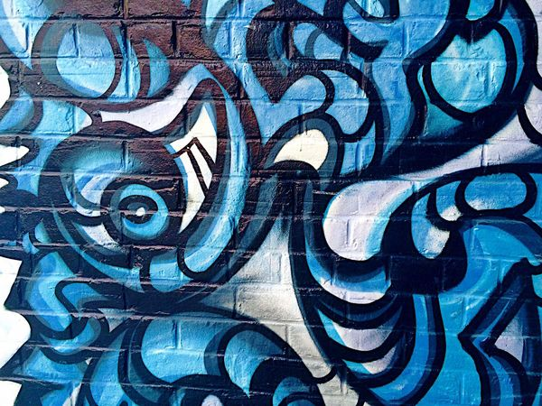 Street Art - iPhone 5s Found On The Roll The Street Photographer - 2016 EyeEm Awards Beutiful  Colorful Art Blue Wall Building