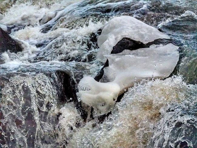 Nature No People Water Beauty In Nature Winter Nature Outside Icedwater Cold Temperature Beauty In Nature Nature Outdoors Splashing Motion Waterfalls Ice Melting Away Ice Ice Crystal Water And Rocks Power In Nature Flowing Water Waterfall_collection