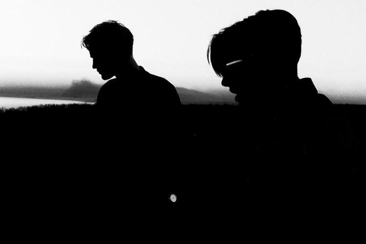 Silhouette men