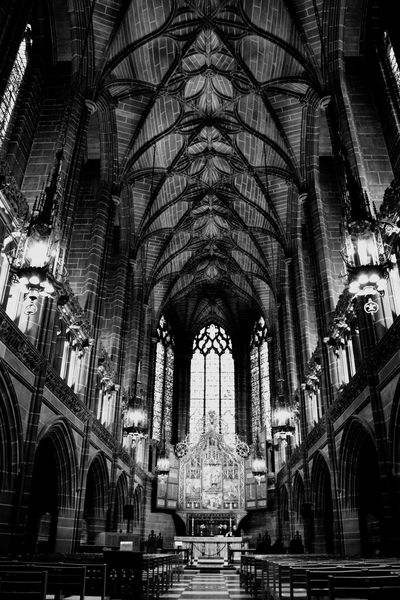 Cathedral Tourist Destination Tourist Destination Monochrome Blackandwhite Tourism Architecture Place Of Worship Religion Built Structure Arch Spirituality Indoors  Low Angle View