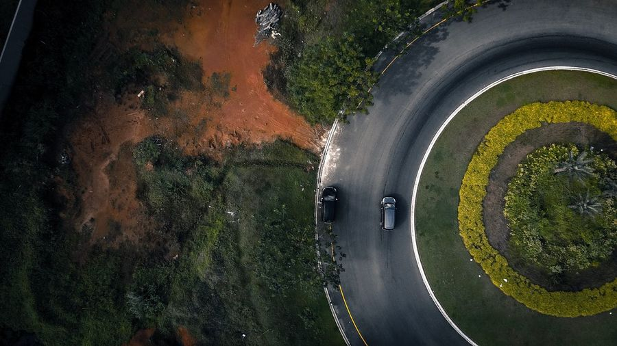 Drift the circle Transportation Road No People Tree Outdoors Day Grass Nature Tire