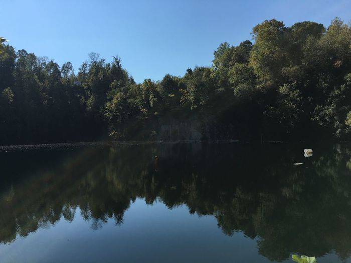 Rock Quarry where the slabs where used to build the White House or the Capital building Reflection Tree Water Nature Tranquility Tranquil Scene Outdoors Growth Scenics Sky Lake Beauty In Nature No People Day Clear Sky