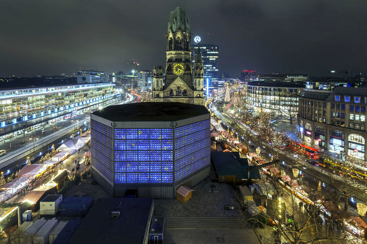 Berlin Kurfürstendamm Architecture Built Structure Building Exterior City Illuminated Night Building Cityscape Sky Travel Destinations No People Nature High Angle View Travel Outdoors Tourism Tall - High City Life Street Office Building Exterior Berlin Kudamm Kurfürstendamm Breitscheidplatz Gedächtniskirche