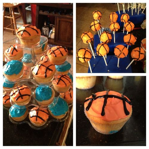 Cupcakes And Cakeballs I Did For A Baby Show   #basketball