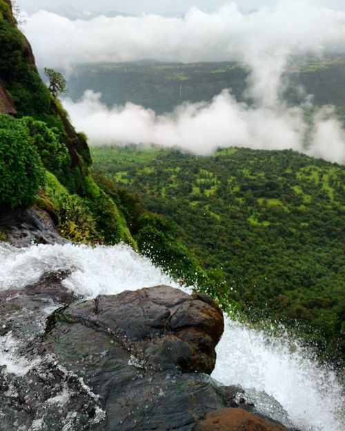 Nature Fog Water Waterfall Landscape Beauty In Nature Rock - Object Cloud - Sky Outdoors No People Scenics Tranquility Travel Destinations Day Mountain Forest Vacations Cloudporn Cloudy Morning Rural Scene EyeEmNewHere Nature Sky Selective Focus Tree