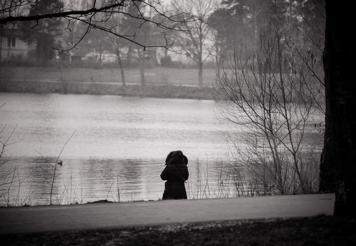 MAinLoveWithFreedom and Big Girl Standing Lake Lakeshore Lakeside Water One Person Rear View Outdoors People Nature One Woman Only Beauty In Nature Landscape Mono Monochrome Monoart Black And White Bnw Bnw_collection Bnw_captures Bnw Photography Bnw_maniac Freedom - 16.03.2018 - #Dedingerheidesee #BadLippspringe #OWL