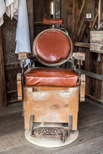 Old Vintage Chair At Hair Salon