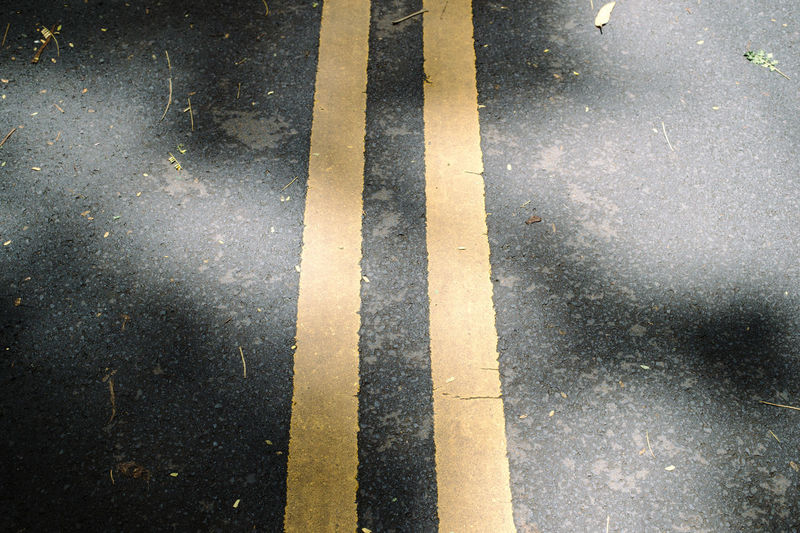 High angle view of road