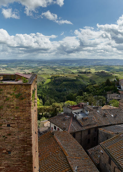 Toscana Tuscany Architecture Building Building Exterior Built Structure City Cloud - Sky Day Environment High Angle View History House Landscape Nature No People Outdoors Residential District Roof Roof Tile Rural Scene Sky Town TOWNSCAPE Tree