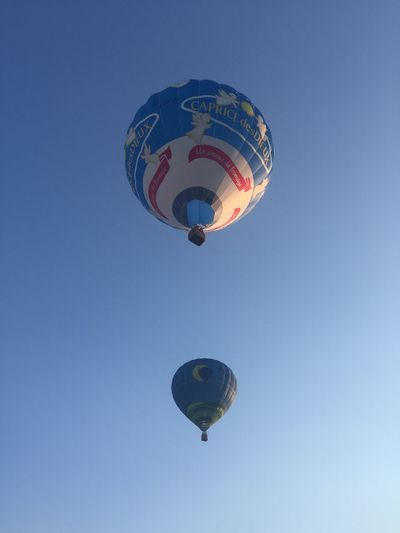 44ieme Championnat de France de Montgolfières 🤩🇫🇷 Landscape Taking Photos IPhoneography Sky Low Angle View Flying Mid-air Clear Sky Balloon Air Vehicle Hot Air Balloon Extreme Sports Blue Adventure Outdoors Day Travel Sport Transportation