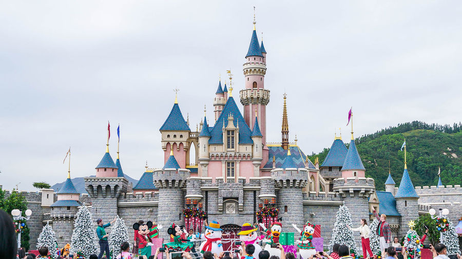 Celebration Christmas DisneyWorld Disneyland Disneyland Hong Kong Penny's Bay Tourist A6500 Fe1635 Sony Theme Park