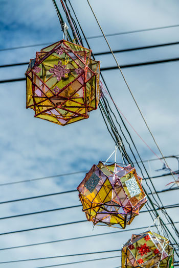 Arts Culture And Entertainment Cable Electricity  Hanging Lantern Lighting Equipment Low Angle View Pai Power Line  Street Light Street Light Streetphotography Thailand