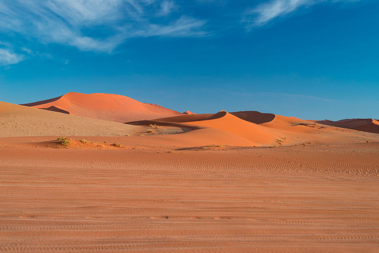View of sand dunes in a desert