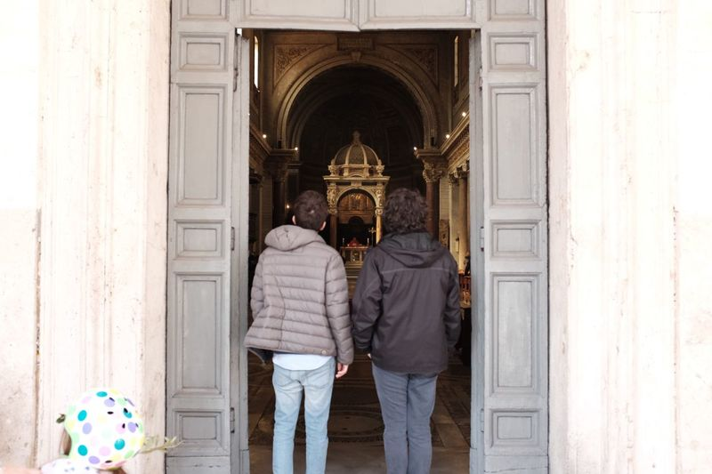 When in Rome Curiosity EyeEm Best Shots Religion Church Tourism Two People Men Real People Adult Casual Clothing Architecture Standing Leisure Activity Togetherness Couple - Relationship Built Structure