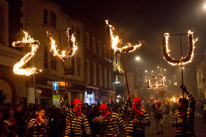 Lewes Bonfire Night, 2017 Bonfire Burning Celebration Flame Lewes November Celebration Crowd Fire Illuminated Large Group Of People Leisure Activity Lewes Bonfire Lifestyles Martyrs Men Night Outdoors People Real People Togetherness Traditional Festival Women