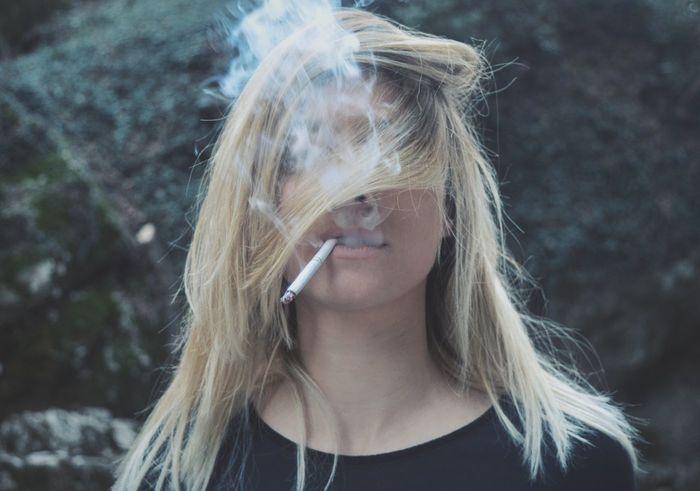 In The Wood Green Nature Dark Blond Hair Messy Hair Girl Cigarette  Cigarette Smoke Smoker Smoke Rijeka City Photography TCPM