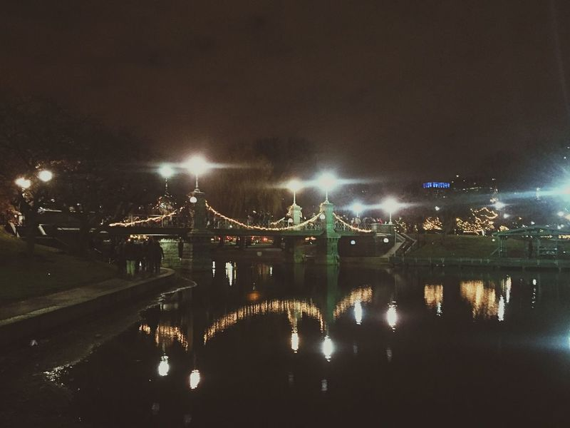 Boston NYE | Hello 2016 Check This Out Taking Photos Hello World Enjoying Life Twinkling Lights Bridges Water Reflections Pond Boston Bostoncommon