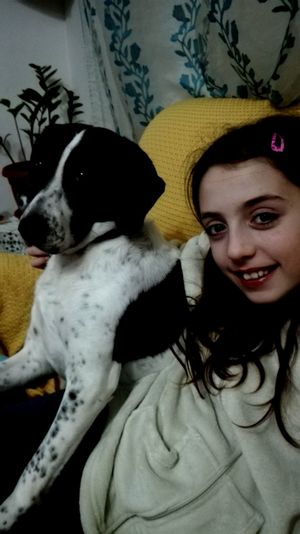 Pets Dog Animal Themes Domestic Animals Togetherness Mammal Indoors  Portrait Lifestyles Bonding Friendship Close-up Young Women Young Adult People Adult Day