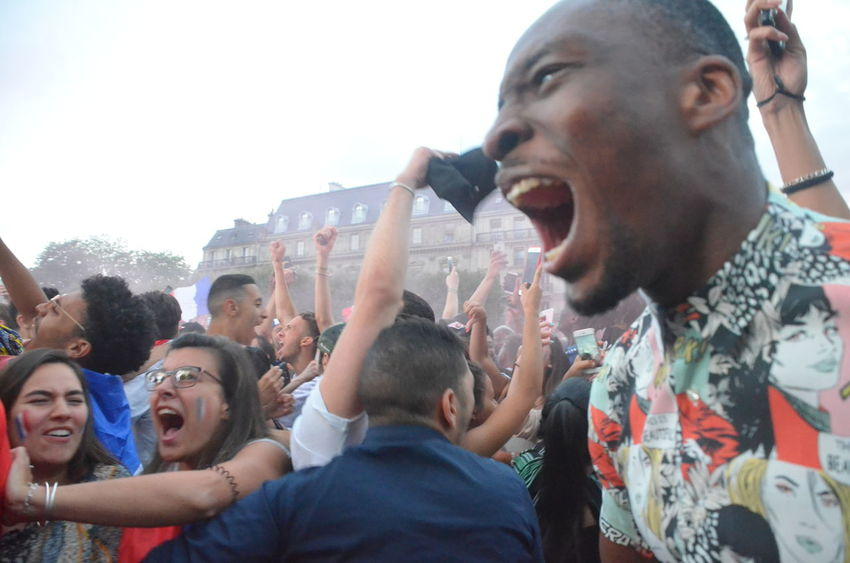 Adult Arms Raised Celebration Crowd Emotion Enjoyment Event Excitement Fun Group Of People Happiness Lifestyles Looking Love The Game Men Mouth Open Outdoors People Portrait Positive Emotion Real People Togetherness world cup 2018 Young Adult Young Men
