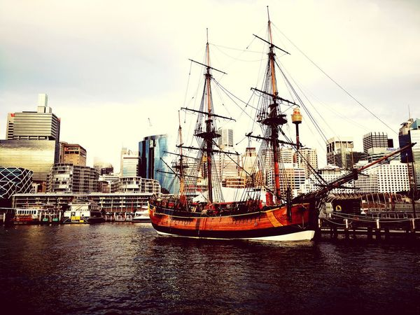 #ship #photography #sydney #Sydney Australia Harbour View #travel #holiday #Australia EyeEm Selects Mobility In Mega Cities #niceview #huaweiphotography #huaweimate10 #phonephotography #cityscapes #travel #harbourview #art #art Of Nature Sky Cloud - Sky Outdoors No People Mode Of Transport Day Transportation Nautical Vessel Water City Architecture