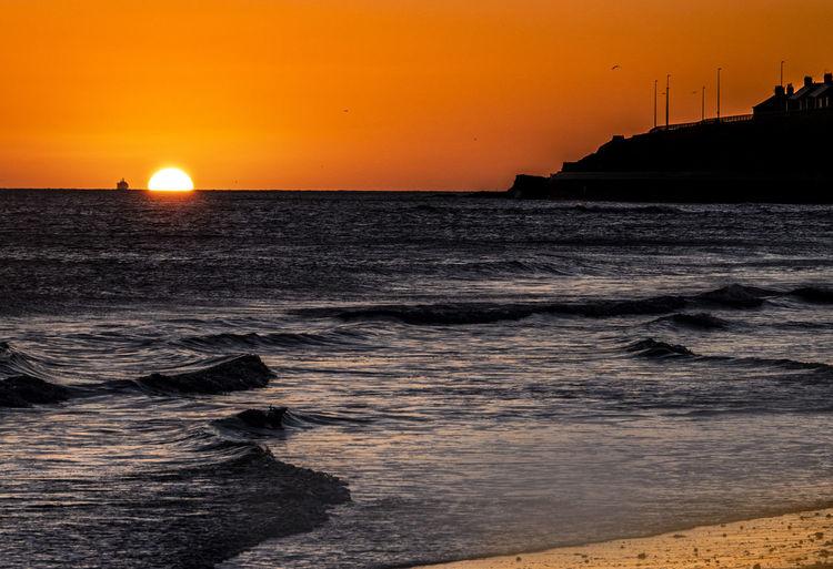 Waves Sunset
