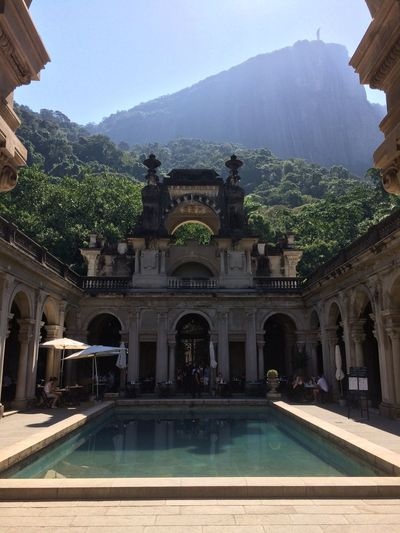 Beauty In Nature Brazil Cafe Christ The Redeemer Corcovado Cristo Cristo Redentor Exotic Exotic Place Hills Jardim Botanico Parque Lage Pool Rio Rio De Janeiro RJ Sky Travel Destinations